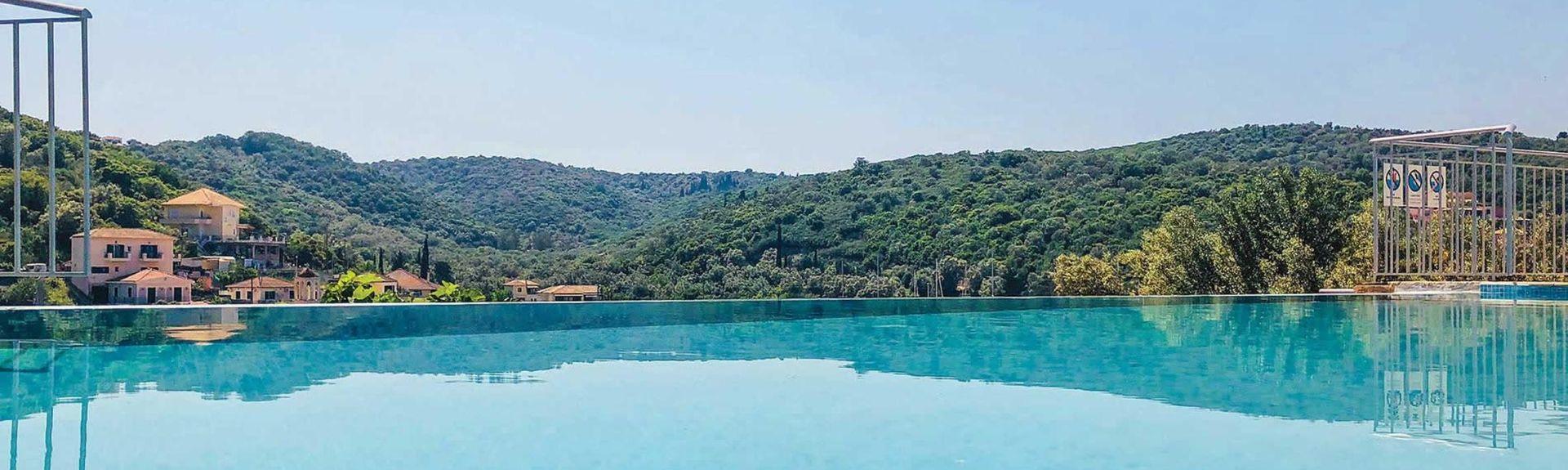 Nidri-fallene, Nidri, Peloponnes, Hellas