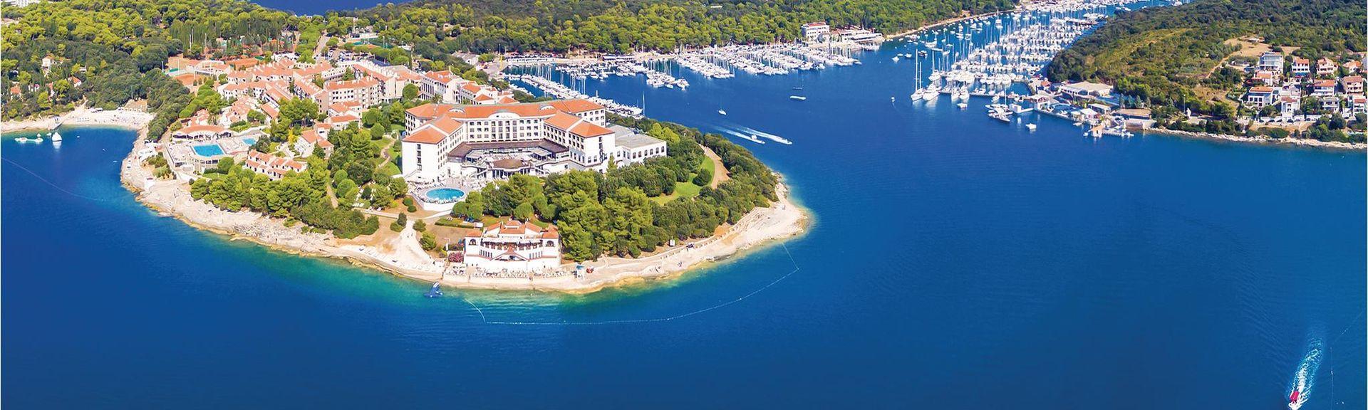 Strand von Rabac, Labin, Gespanschaft Istrien, Kroatien