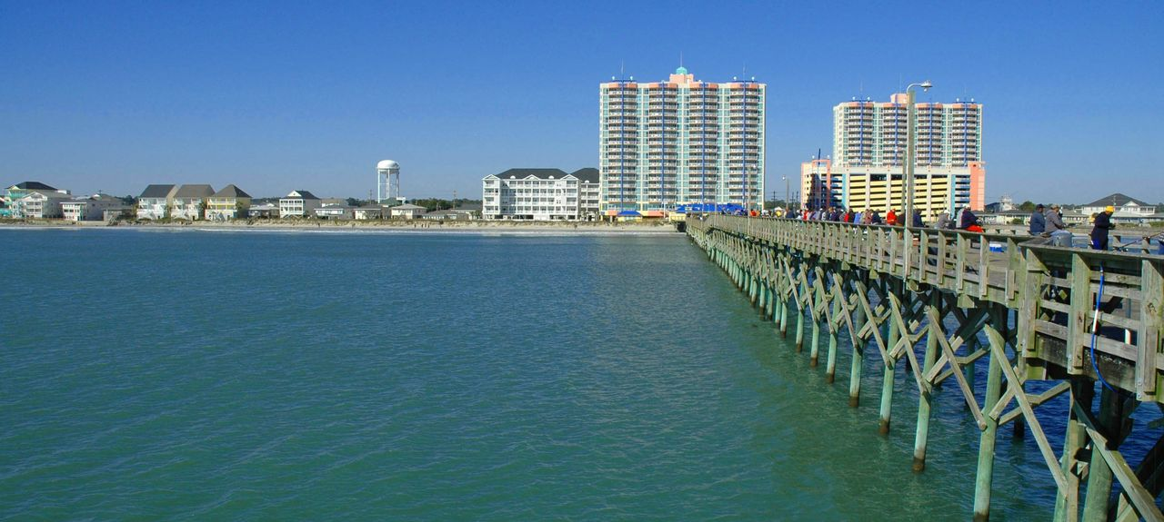 Cherry Grove Beach, North Myrtle Beach, Caroline du Sud, États-Unis d'Amérique