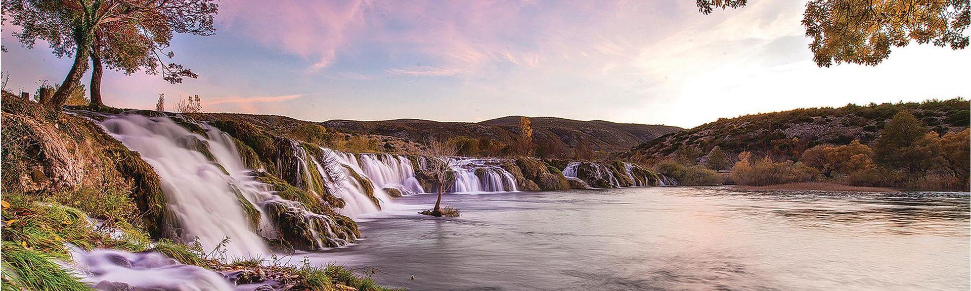 Vodices hamn, Vodice, Sibenik-Knin, Kroatien