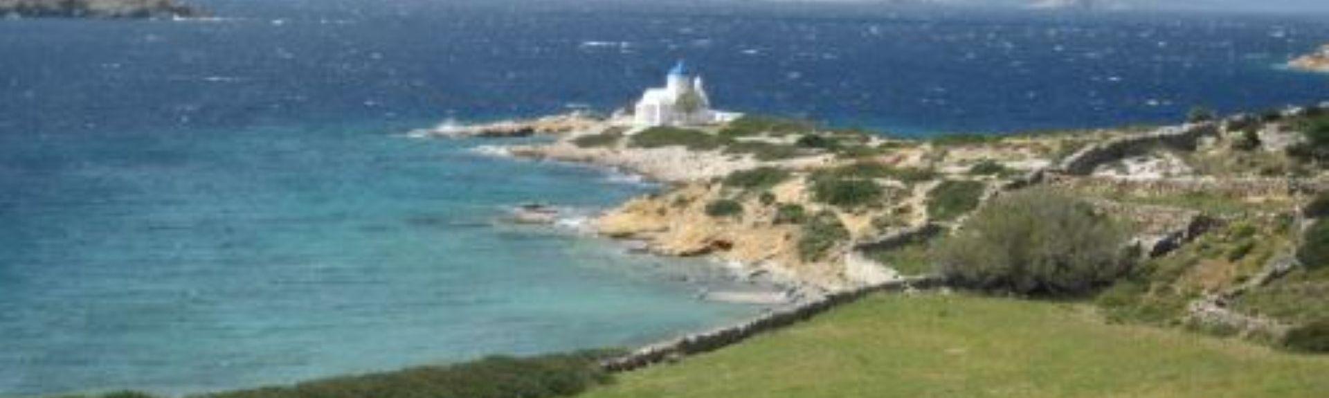 Agia Anna strand, Amorgos, Sørlige egeiske øyer, Hellas