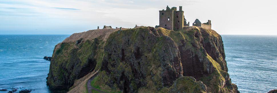 Dunnottar Slot, Stonehaven, Skotland, Storbritannien