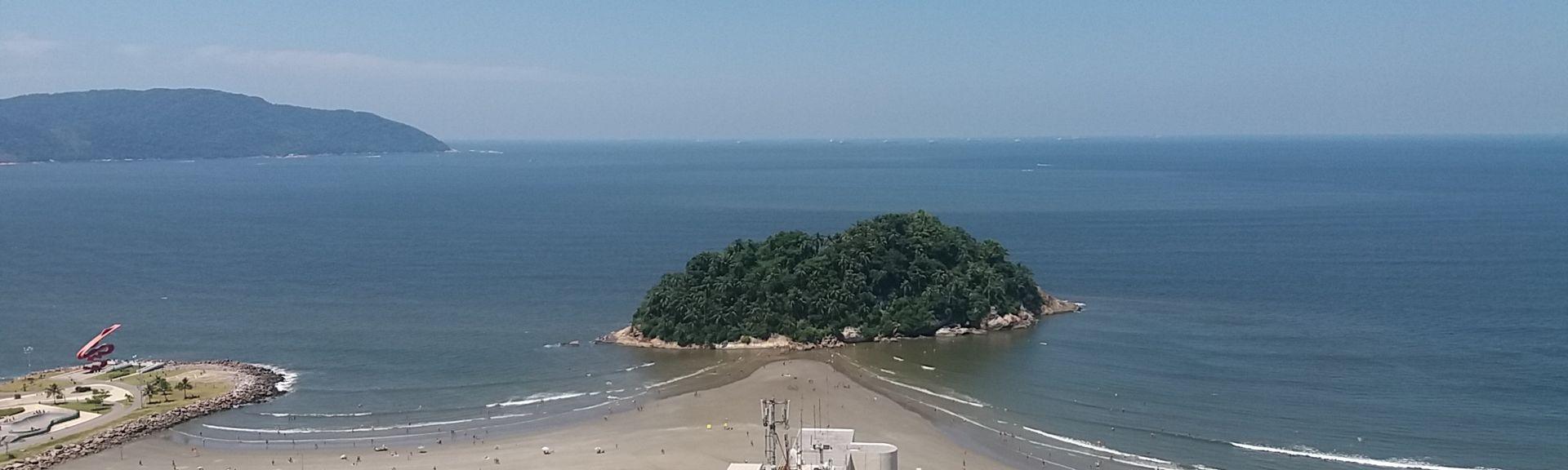 Praia da Enseada, Guaruja, San Paolo, BR