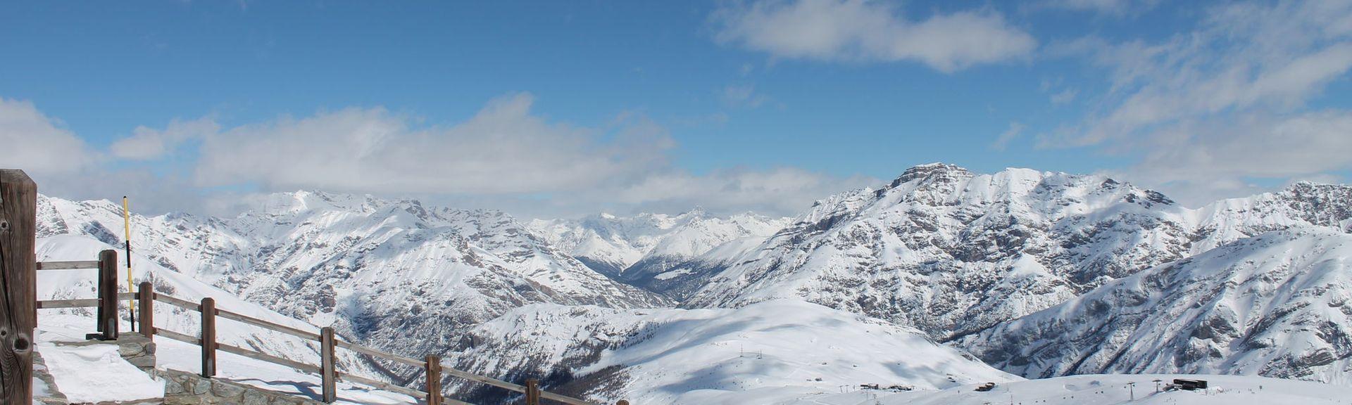Zona de esquí de Livigno, Livigno, Lombardía, Italia