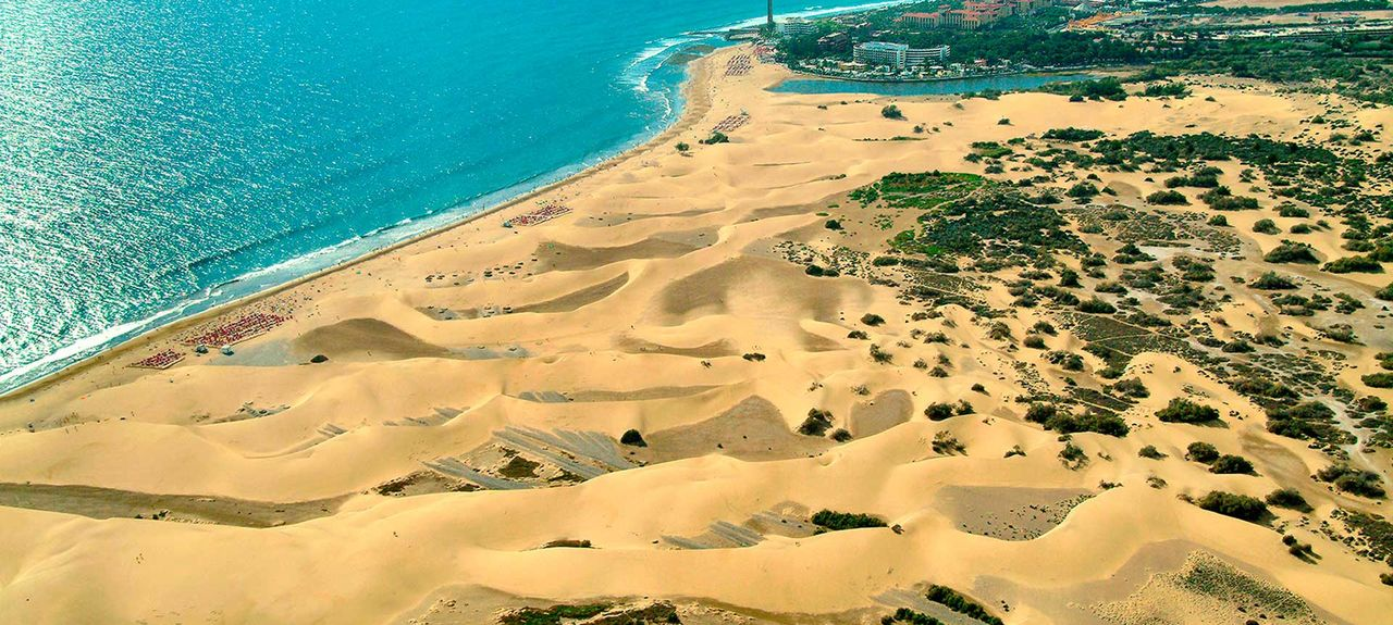 La Playa de Arguineguín, San Bartolome de Tirajana, De Kanariske Øer, Spanien