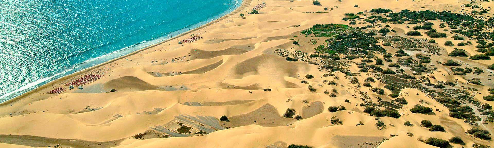 La Playa de Arguineguín, Mogan, Kanariansaaret, Espanja
