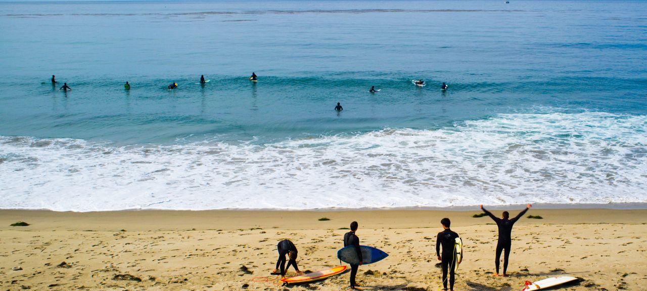 Spiaggia Statale di Malibu Lagoon, Malibu, California, Stati Uniti d'America