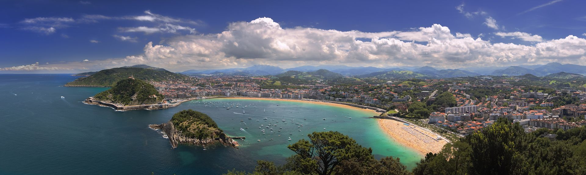 Concha Beach, San Sebastian, Basque Country, Spain