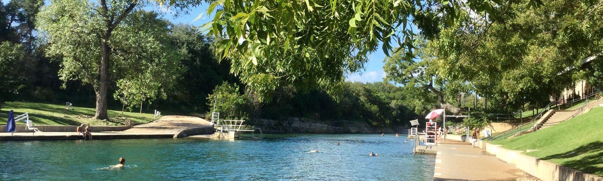 Barton Springs Pool, Austin, Texas, États-Unis d'Amérique