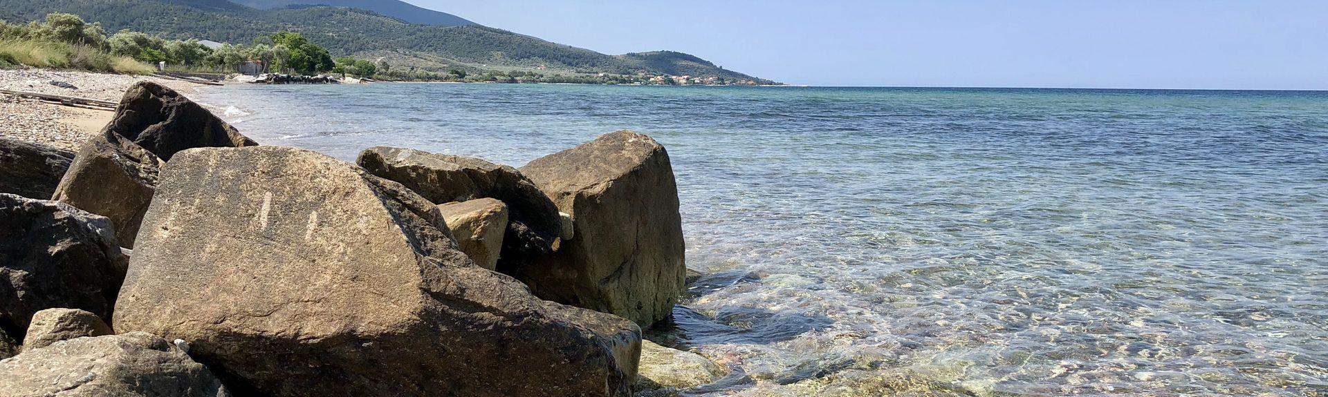 Makryammos Beach, Thasos, Eastern Macedonia and Thrace, Greece