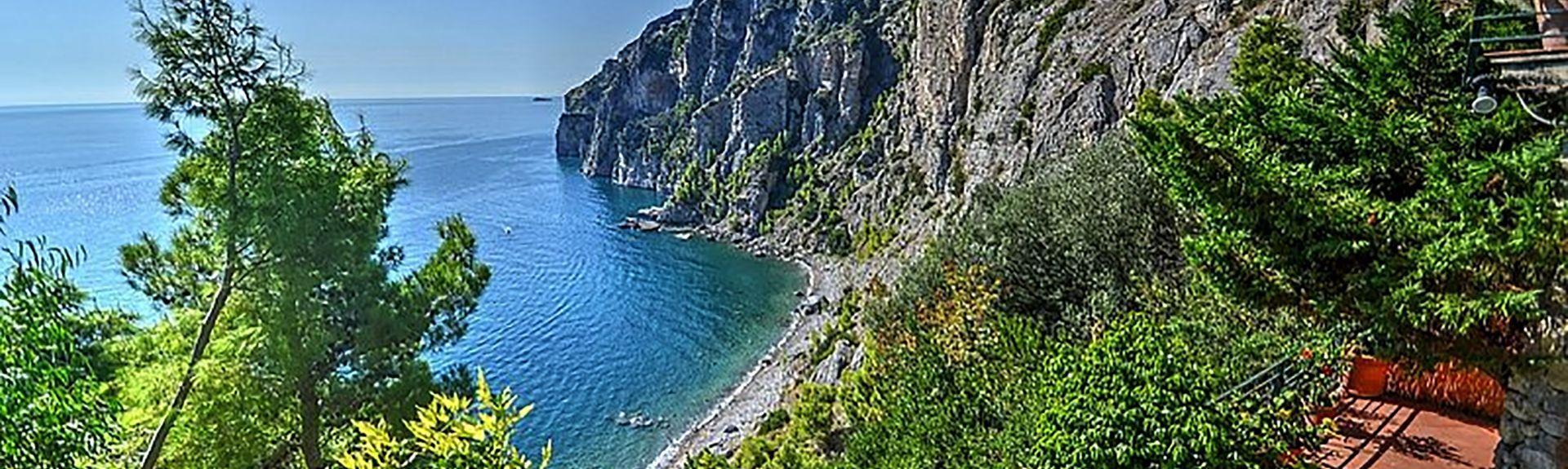 Atrani Strand, Atrani, Campania, Italien