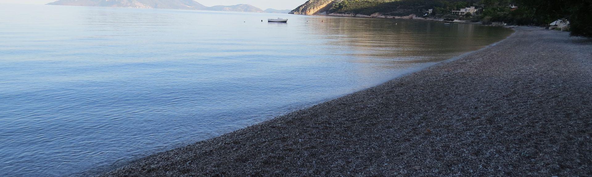 Tolo strand, Nafplio, Peloponnes, Hellas