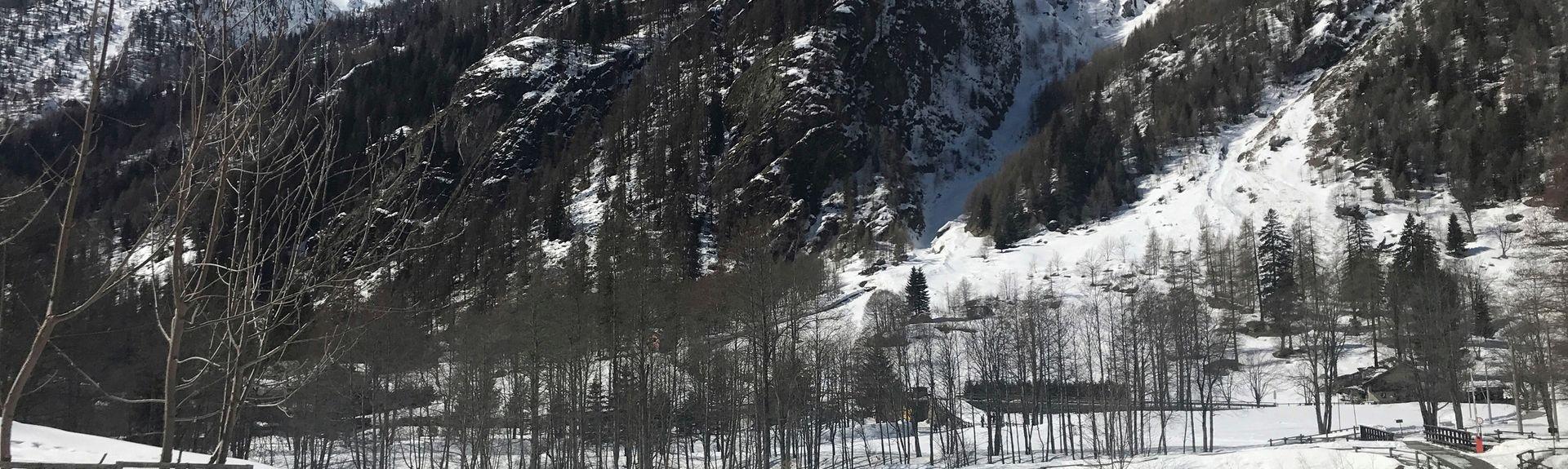 Télésiège Gabiet-Lago, Gressoney-La-Trinité, Vallée d'Aoste, Italie