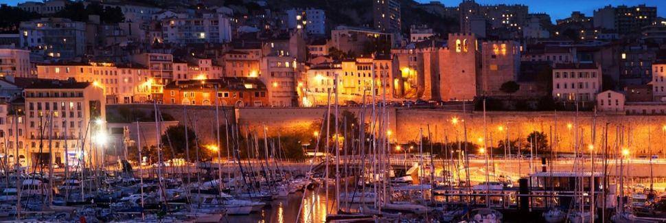 Plage de la Point Rouge, Marseille, Provence-Alpes-Côte d'Azur, Frankreich