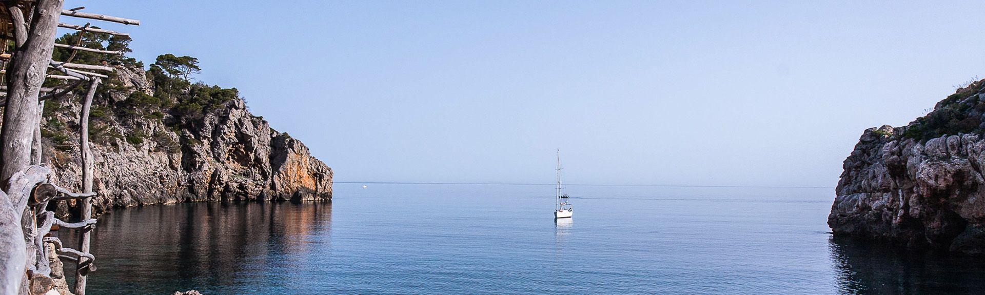 Cala Banyalbufar, Banyalbufar, Baleariske Øer, Spanien