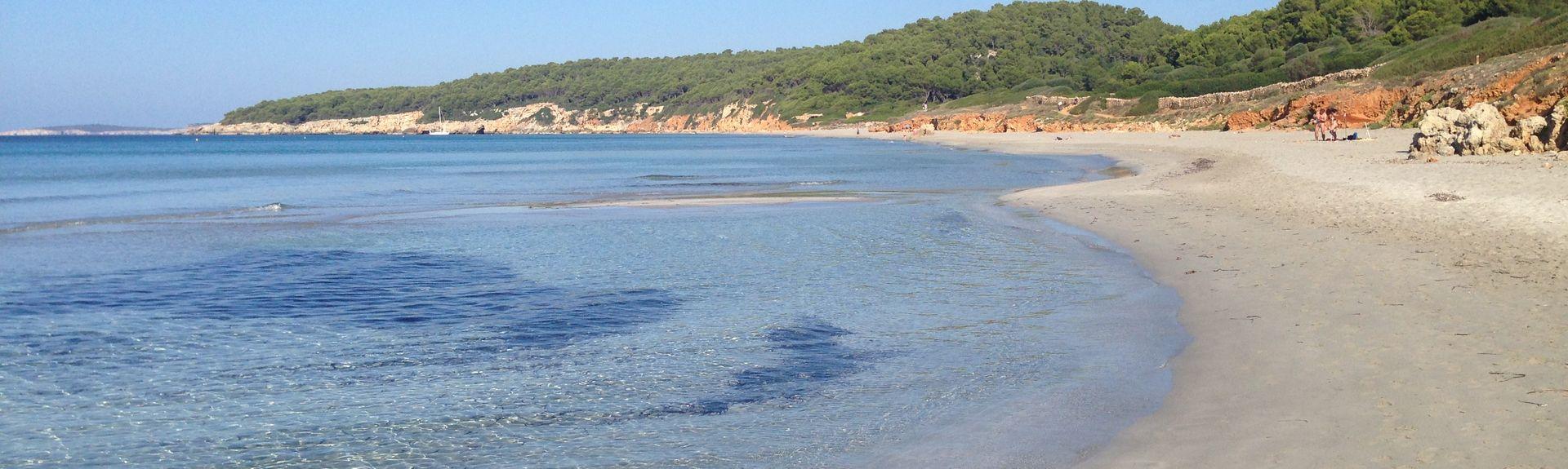 Strand von Macarelleta, Ciutadella de Menorca, Balearische Inseln, Spanien