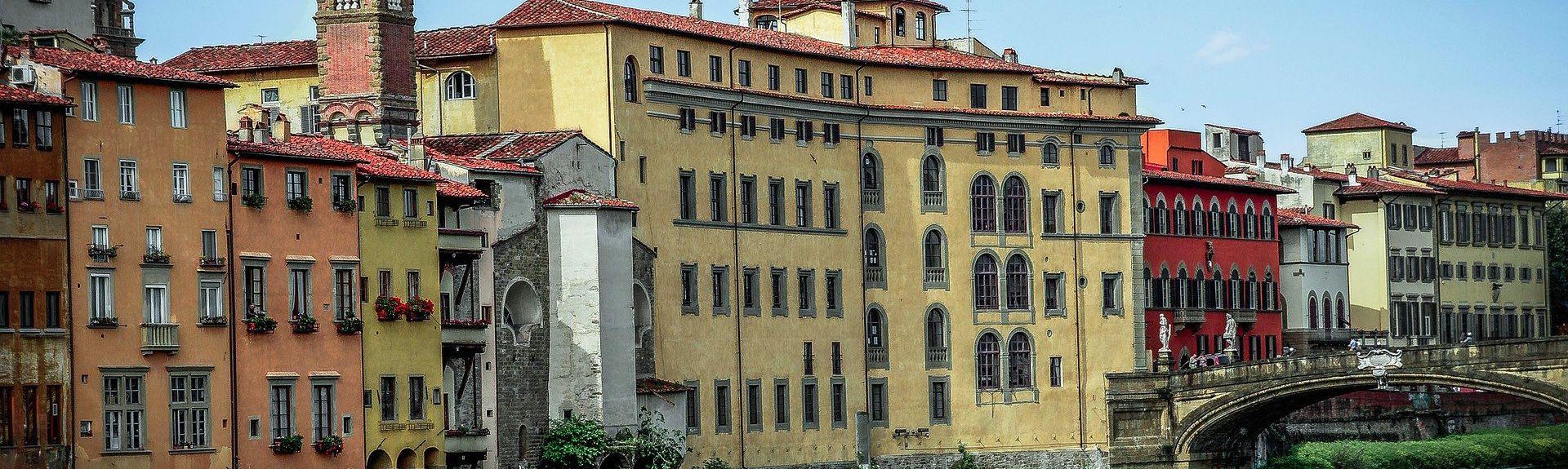 Lungarno del Tempio, Florens, Toscana, Italien