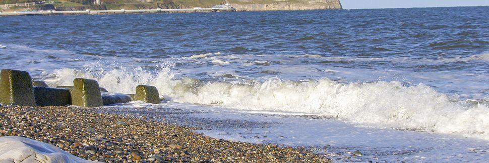 Prestatyn Beach, Prestatyn, Wales, Verenigd Koninkrijk