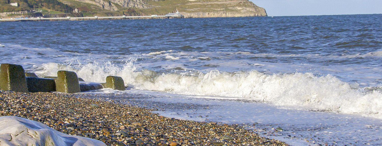 Prestatyn Beach, Prestatyn, Wales, Großbritannien