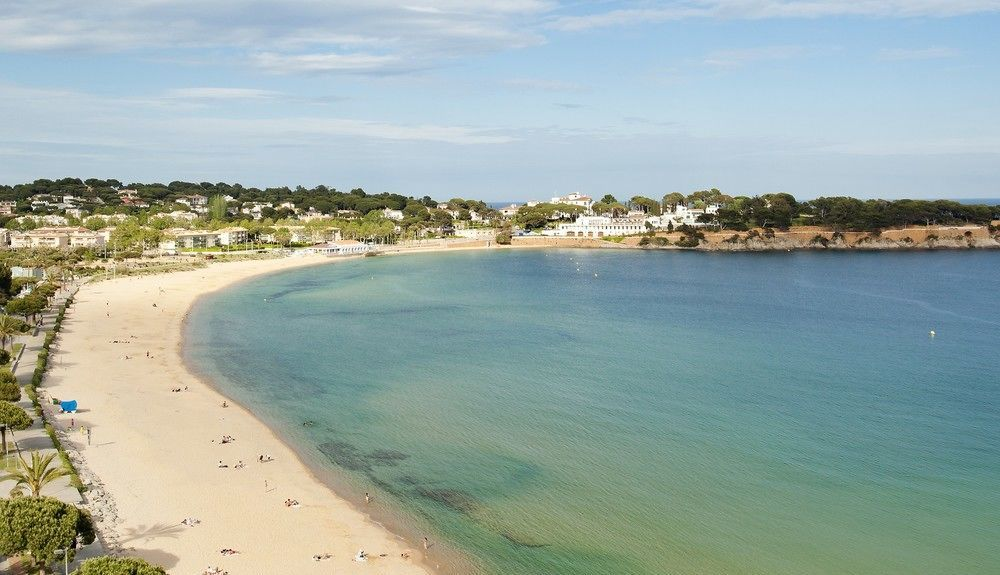 Spiaggia di Cala Canyelles, Lloret Blau, Catalogna, Spagna