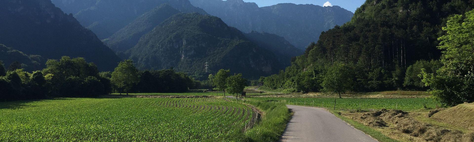 Parc aventure Breg Adventure Park, Sella Giudicarie, Trentin-Haut-Adige, Italie