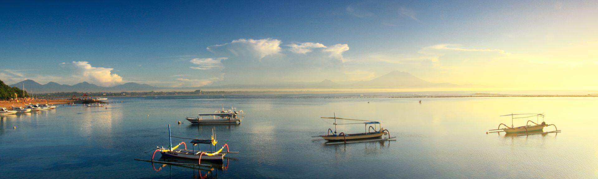 Praia de Sanur, Denpasar, Bali, Indonésia