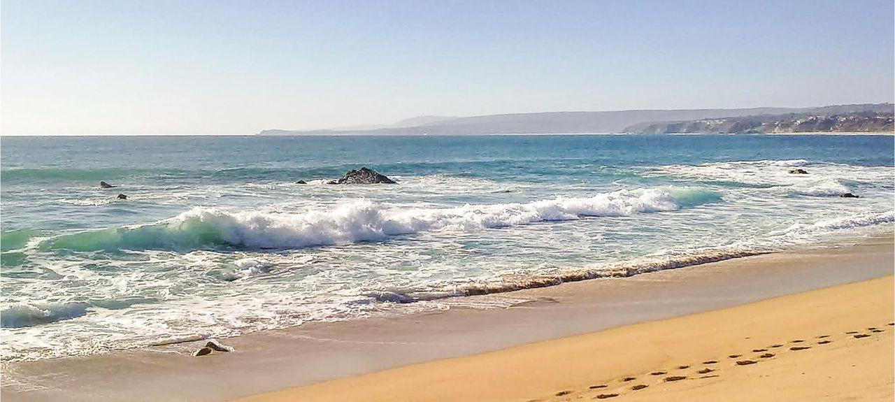 El Playazo-stranden, Nerja, Andalusien, Spanien