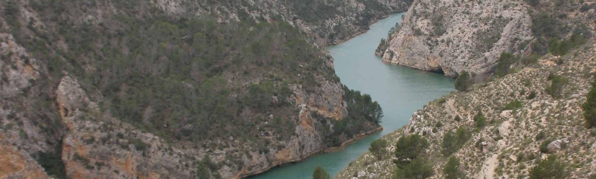 Castillo de Cofrentes, Land Valencia, Spanien