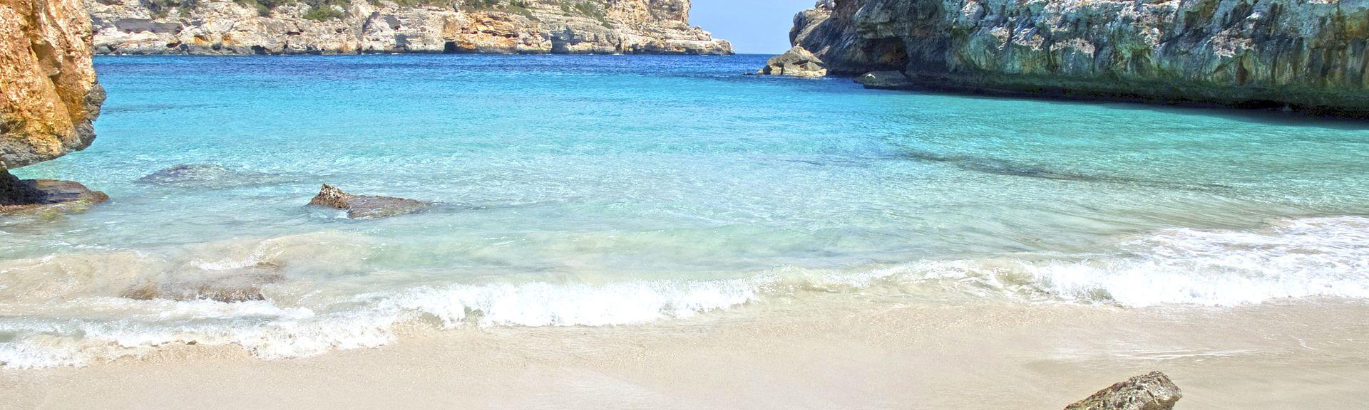 Cala Sa Nau, Felanitx, Balearic Islands, Spain