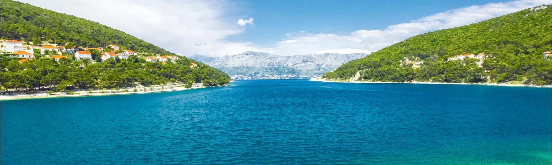 Podgora strand, Podgora, Split-Dalmatia, Kroatia