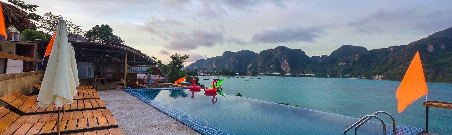 Miradouro de Ko Phi Phi, Baixa de Krabi, Tailândia