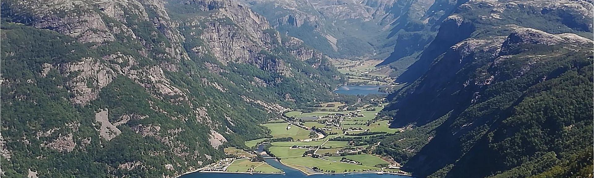 Kjeragbolten, Forsand, Rogaland (comté), Norvège