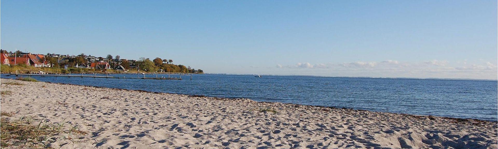 Hejlsminde Strand, Hejls, Danemark-du-Sud, Danemark