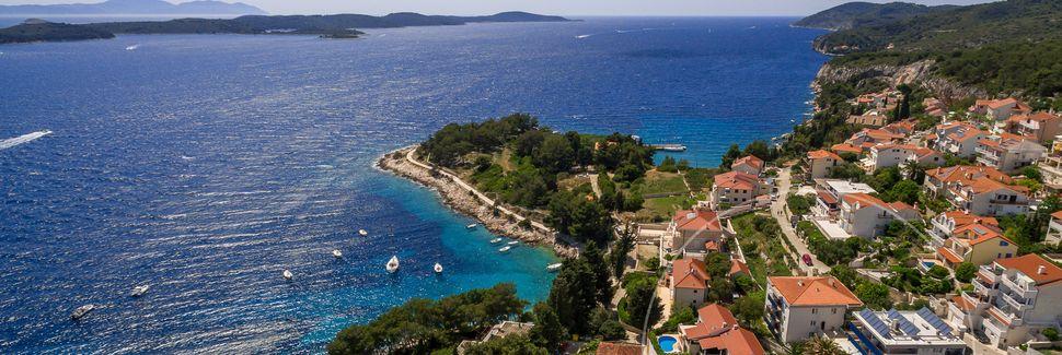 Plage de Zaglav, Vis, Split-Dalmatie, Croatie