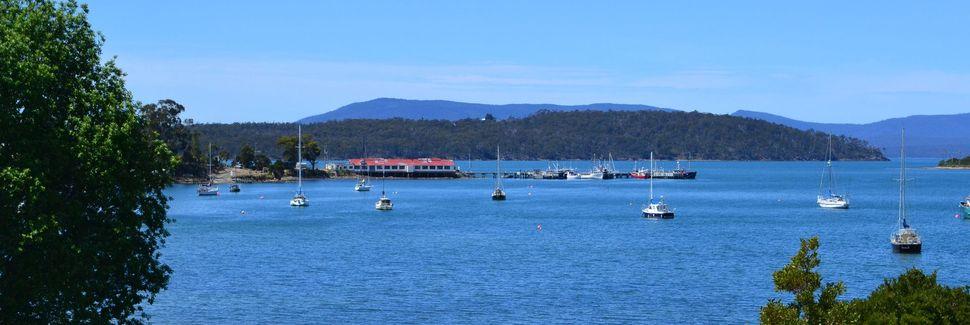 Terminal de balsas de Bruny Island, Tasmânia, Austrália