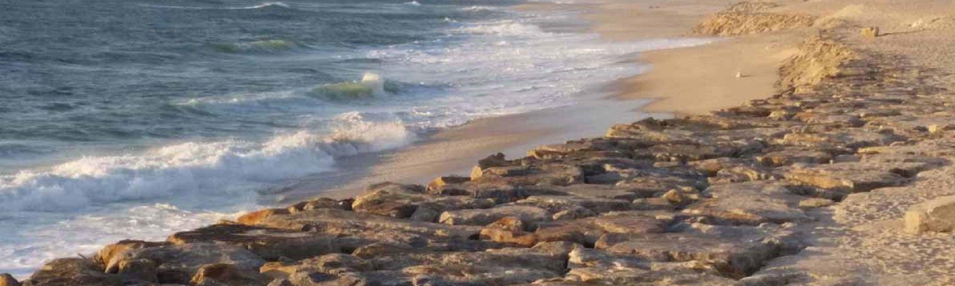 Strand von Costa Nova, Ilhavo, Distrikt Aveiro, Portugal