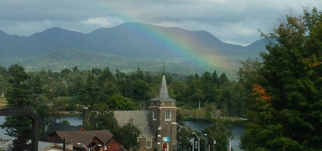 Mirror Lake, Lake Placid, NY, USA