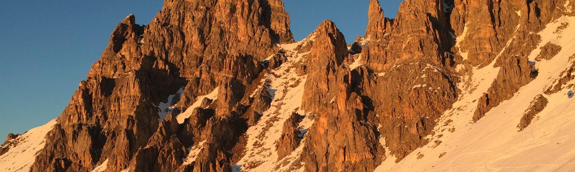 Estância de Esqui de Meribel, Les Allues, Auvérnia-Ródano-Alpes, França