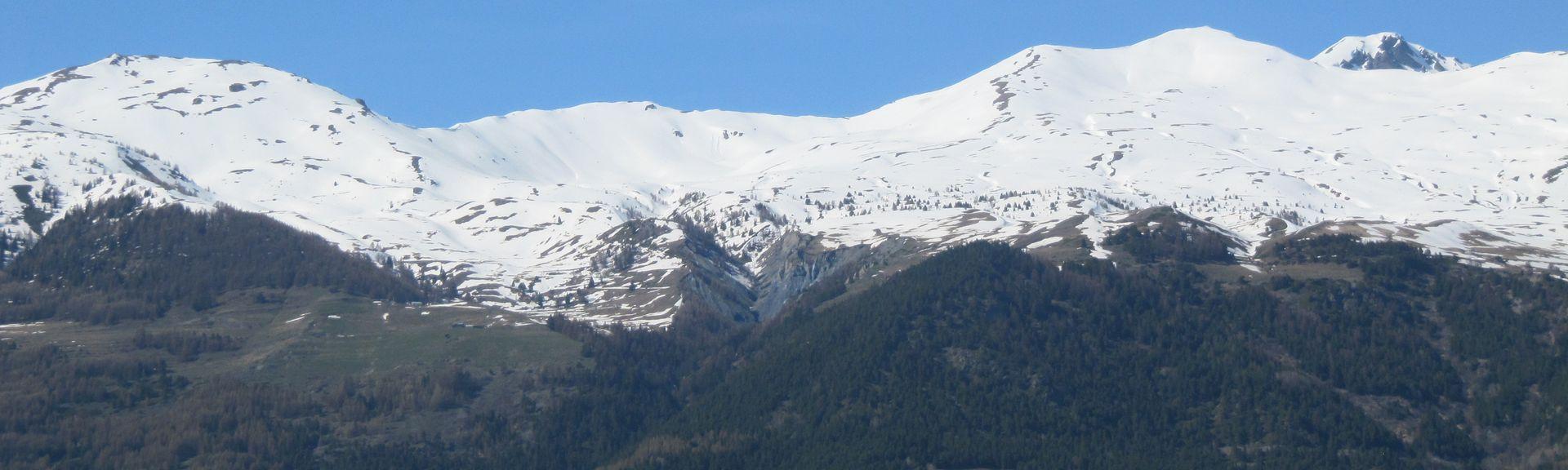 La Thuilen talviurheilualue, La Thuile, Aostanlaakso, Italia