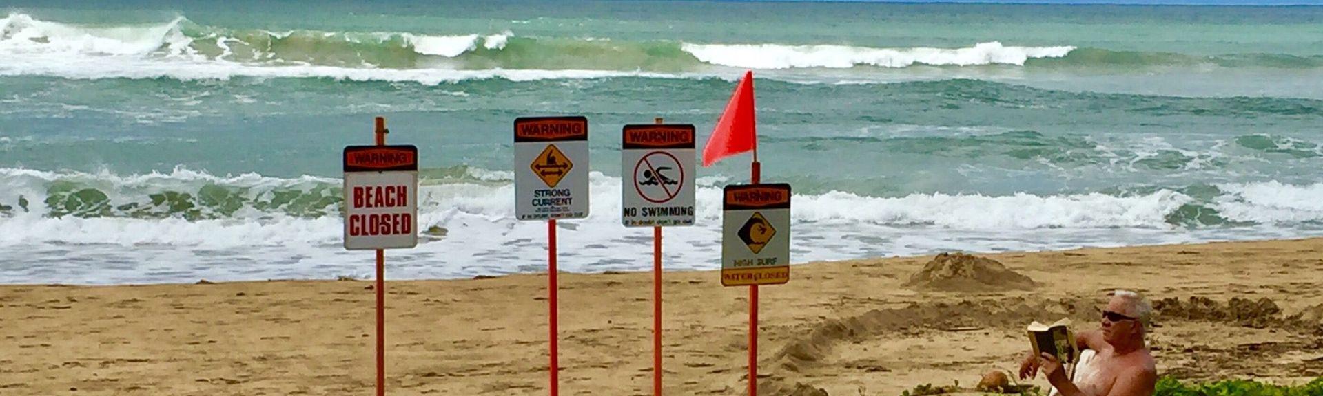 Parque de la playa de Hanalei, Hanalei, Hawái, Estados Unidos