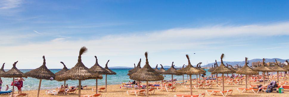 Playa de Palma, Palma de Mallorca, Ilhas Baleares, Espanha