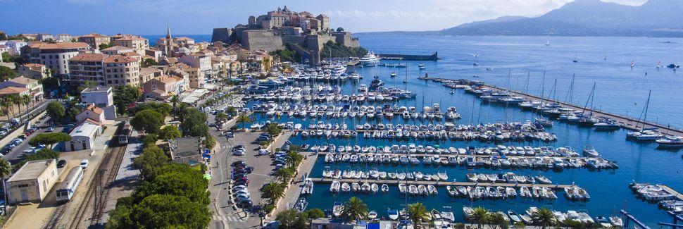 Calvi Harbor, Calvi, Korsika, Frankreich