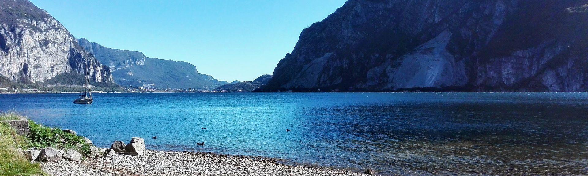 Lago di Annone, Lombardiet, Italien