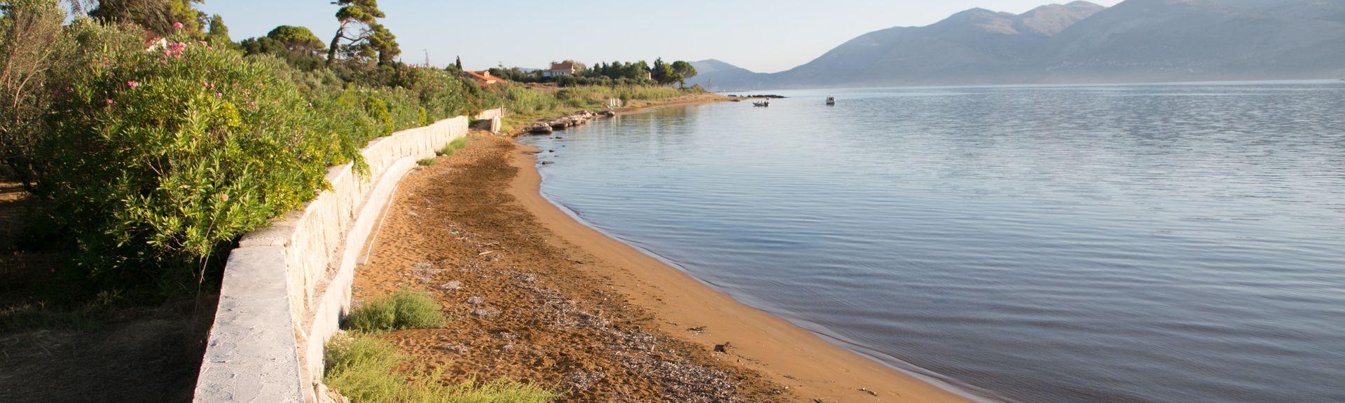 Myrtoksen uimaranta, Pilarei, Peloponnesos, Kreikka