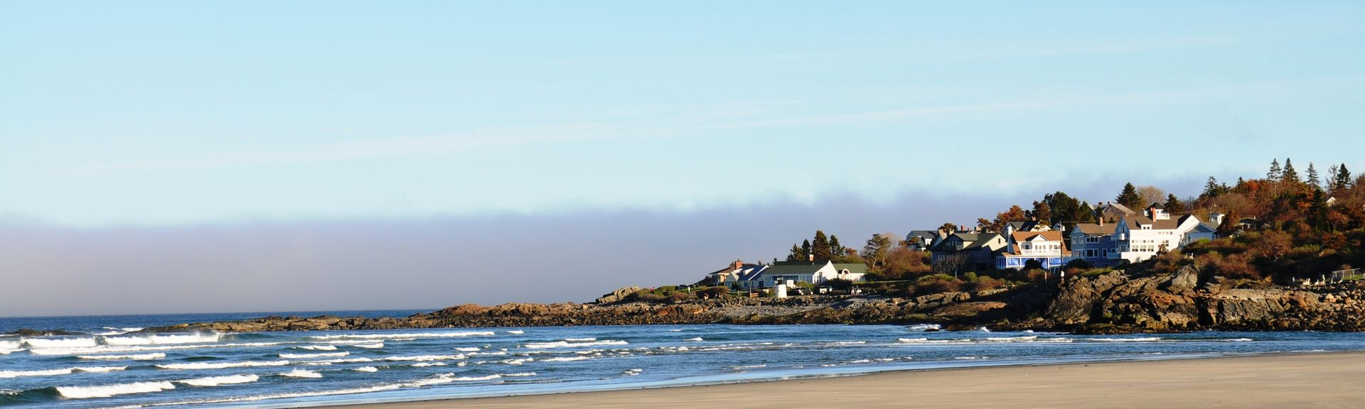 Strand von Long Sands, York, Maine, USA