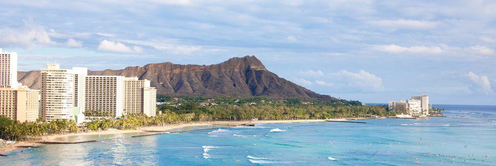 Spiaggia di Waikiki, Honolulu, Hawaii, Stati Uniti d'America