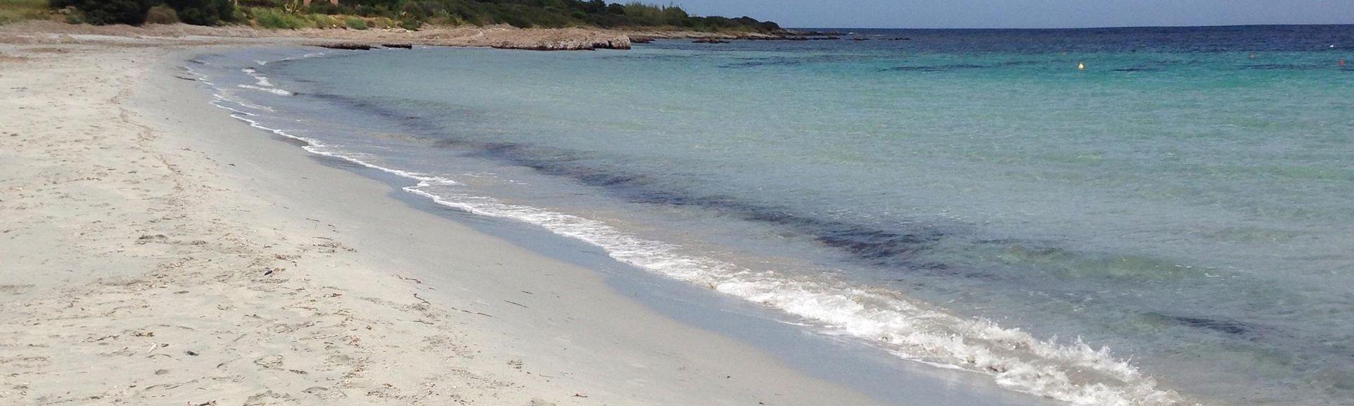 La Isuledda-stranden, San Teodoro, Sardinia, Italia
