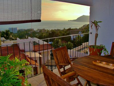 Photo for Best Ocean Views in Manzanillo 180 degree view from king size bed all amenities