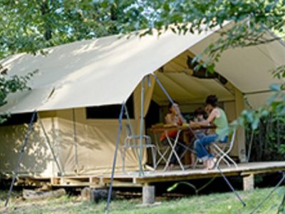 Photo for The Classic V Wood & Canvas tent - Up to 5 people - 25 m² NUMERO 3