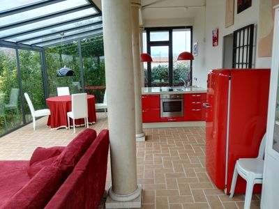 Photo for Comfortable house with garden 2 km from the sea and the beautiful beaches of Versilia